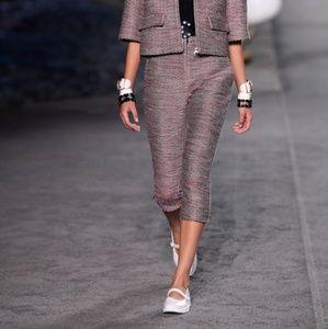Nina Ricci tweed cropped pants - get the look